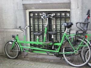 Custom made bike for carrying children Amsterdam
