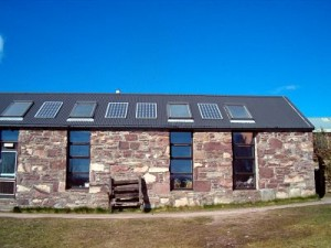 Schoolhouse at Scoraig off grid and fitted with PV's.
