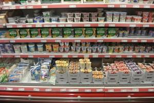 swiss supermarket yoghurt section